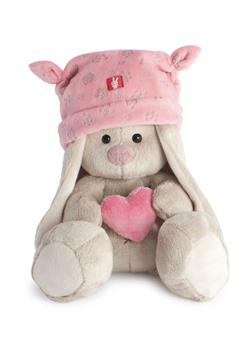 Pink hat with heart