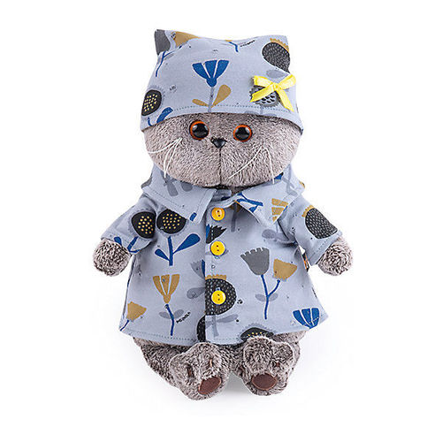 Basik in blue pajamas with flowers