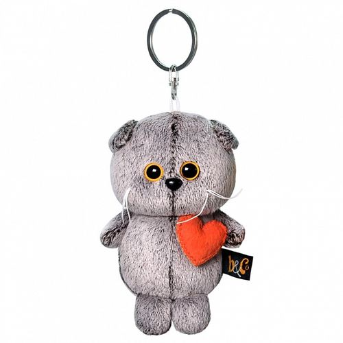 Keychain Cat Basik with a heart