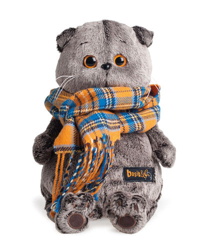 Basik in a plaid scarf